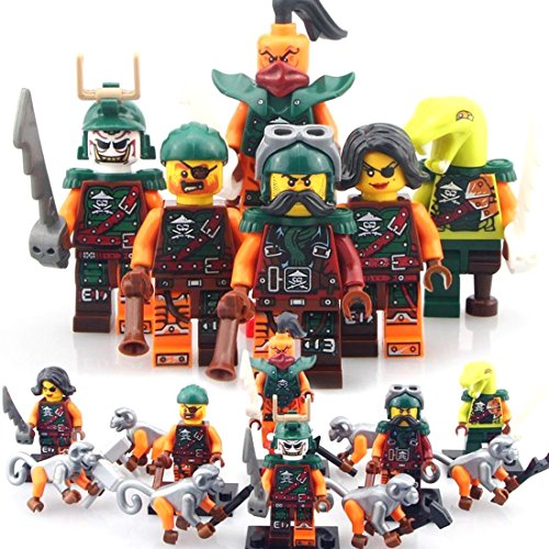 [6 Sets Phantom Ninja 6 Flying Pirates Minifigures Toys Snake Bucko Toy Blocks CE] (Dance Costumes Supplies Sydney)
