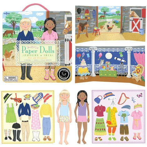 Poet and Astronomer Durable Paper Dolls