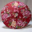 Cloth Umbrella with Peony Floral Pattern (33-inch Diameter)