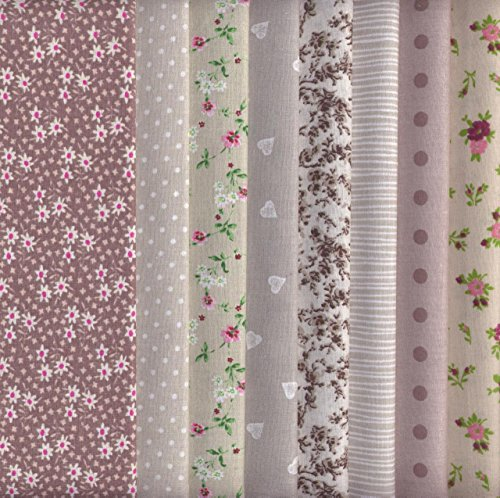 tessuti-colori-marroni-ecru-e-grigi-confezione-di-8-pezze-100-puro-cotone-46-x-56-cm