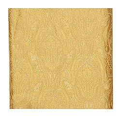 Raj Men's Synthetic Kurta Fabric (Golden)