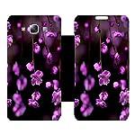 Skintice Designer Flip Cover with Vinyl wrap around for Samsung Galaxy E7, Design Flower