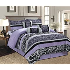 Black white zebra leopard micro fur comforter set queen size bedding