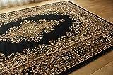ペルシャ 柄 ラグ マット エンペラー ウィルトン織り ブラック 約 235×320 cm 約 6畳