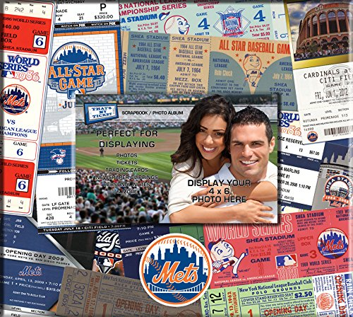 MLB New York Mets 8x8 Scrapbook Photo Album (Ny Mets Tickets compare prices)