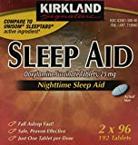 Kirkland Signature Nighttime Sleep Aid (Doxylamine Succinate 25 mg), 192 Tablets
