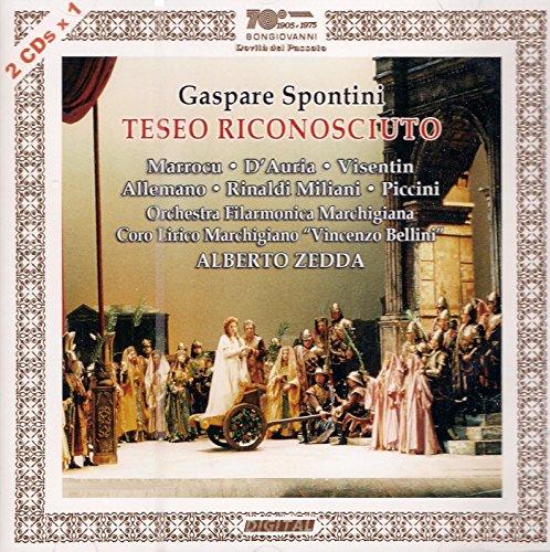 CD : SPONTINI / ZEDDA - Gaspare Spontini: Teseo Riconosciuto (2 Discos)