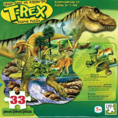 T-Rex 33 Piece Shaped Puzzle