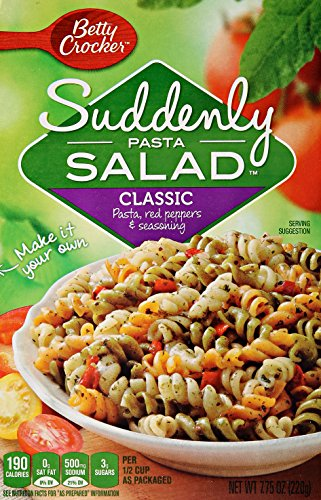 Betty Crocker Suddenly Pasta Salad, Pasta Dinner Kit - Classic - 7.75 oz (Pasta Salad Dressing compare prices)