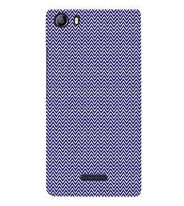 Small Lines Chevron Blue Pattern 3D Hard Polycarbonate Designer Back Case Cover for Micromax Canvas 5 E481