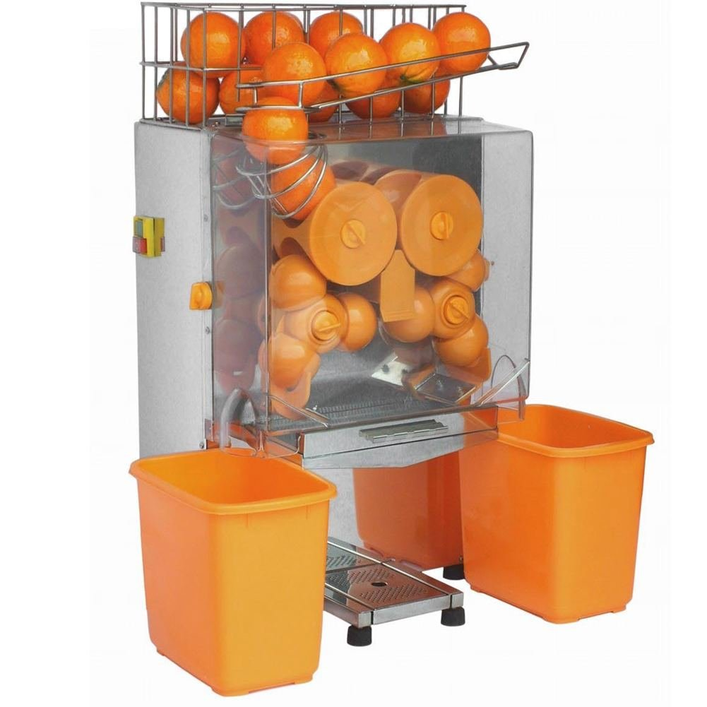 Sanven Commercial Juicer Auto Feed Squeeze 20-22 Oranges Per Mins 4-7 Glasses Per Mins Safety Cut Off Switched
