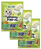 デオトイレ 1週間消臭・抗菌 飛び散らない緑茶成分入り・消臭サンド 4L×3個
