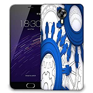 Snoogg business background and symbol Designer Protective Back Case Cover For Meizu M2