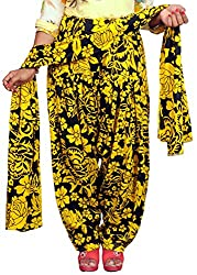 Tinnu G Women's Rayon Salwar and Dupatta Set (TGRPS1006_Black_Free Size)