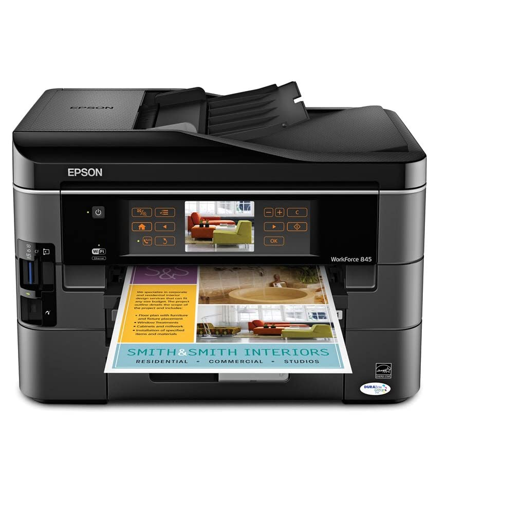 Cost of color printing at fedex - Epson Workforce 845 Wireless Color Inkjet All In One Printer C11cb92201