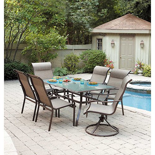 Mainstays York 7-Piece Patio Dining Set, Seats 6 photo