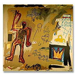 Jean-Michel Basquiat Original Graffiti Art Bird On Money 1981 Hand-painted Reproduction Oil Painting on Gallery Wrapped Canvas - 48X36 inch