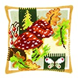 Vervaco Cross Stitch Cushion Fly Agarics