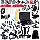 BAXIA TECHNOLOGY Accessories Kit for GoPro HERO 4 3+ 3 2 1 Cameras, Black Silver