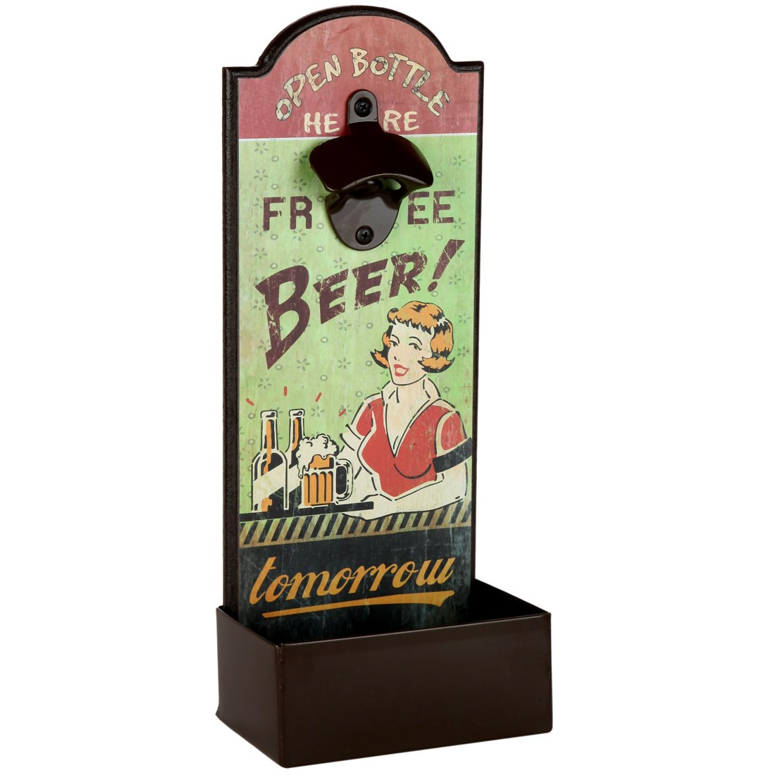 Lily's Home Vintage Humorous Beer Bottle Opener With Cap Catcher, Father's Day Gift 0