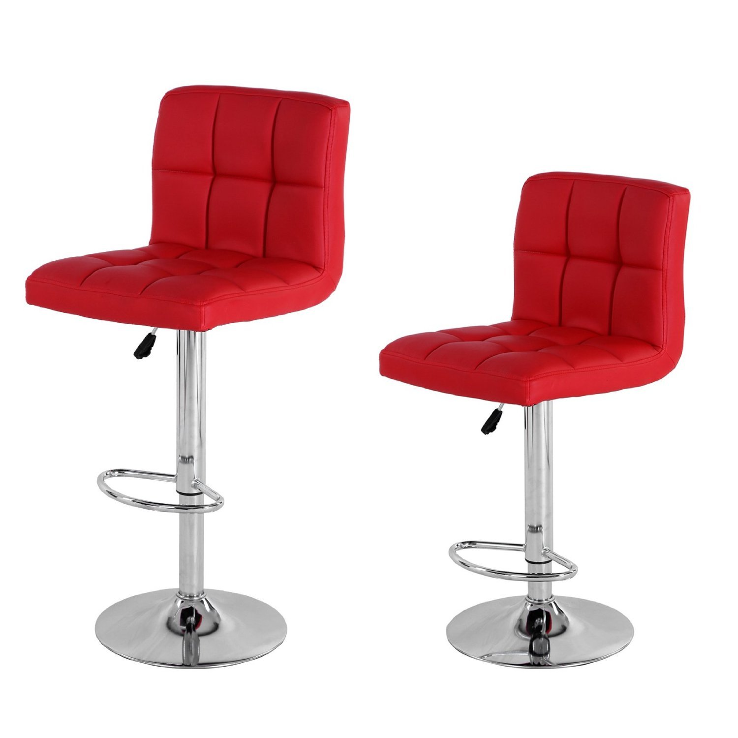 Luxurious Chair Red Stools Bar Commercial Swivel Elegant