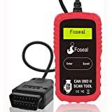 Foseal OBD2 Scanner, OBDII Diagnostic Car Vehicle Scan Tool Code Reader, Car Automotive Check Engine Light Reset, Fix Car Problems Easily, Read and Clear Trouble Codes for All Cars and Trucks-Handheld (Color: car code reader-extension cable version)