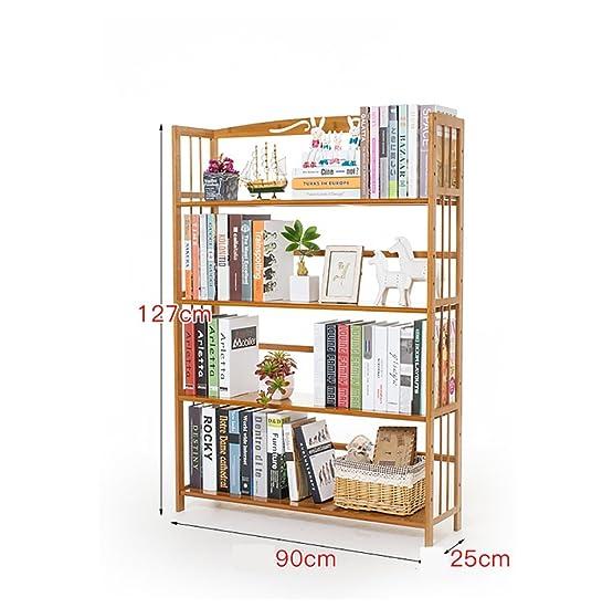 Book Jia librerie Librerie scaffali semplici / libreria in legno multistrato in legno massello / ripiani scaffali per bambini ( dimensioni : 90*25*127cm )