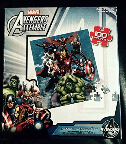 Avengers Assemble, Hulk, Captain America, Thor, Iron Man, Black Widow, Hawk Eye, Falcon, 100 Piece Puzzle - 1