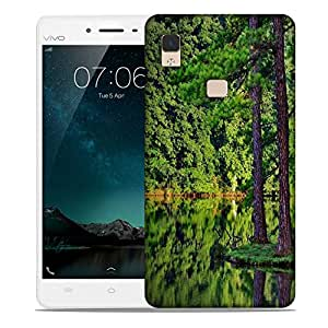 Snoogg Tall Trees On The River Side Designer Protective Phone Back Case Cover For Vivo V3 Max