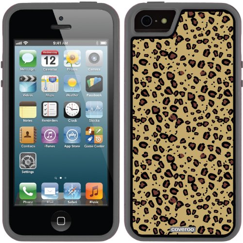 Best Price Leopard Tan design on a Black iPhone 5s / 5 Guardian / Ruggedized Case by Coveroo