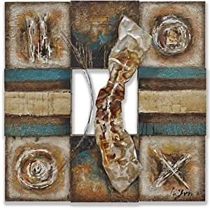 Yosemite home decor fcc4980s 1 lustrous metal i artwork for Home decorations amazon