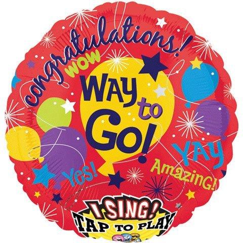 "Anagram International 2350201 Fame Congratulations S-A-T Balloon, 28"""