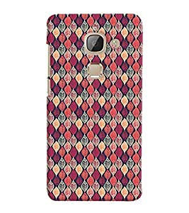 Printvisa Pink Assorted Leaves Pattern Back Case Cover for LeEco Le 2::LeTV Le 2
