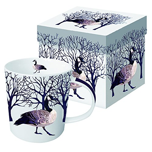 Paperproducts Design Winter Solstice Goose Porcelain Gift Boxed Mug, 13.5-Ounce, Multi-Color