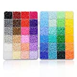 ARTKAL Mini Hard Beads C 2.6mm 34,000 Fuse Beads 48 Colors Assorted in 2 Boxes CC48 (IT'S MINI BEADS NOT STANDARD MIDI BEADS)