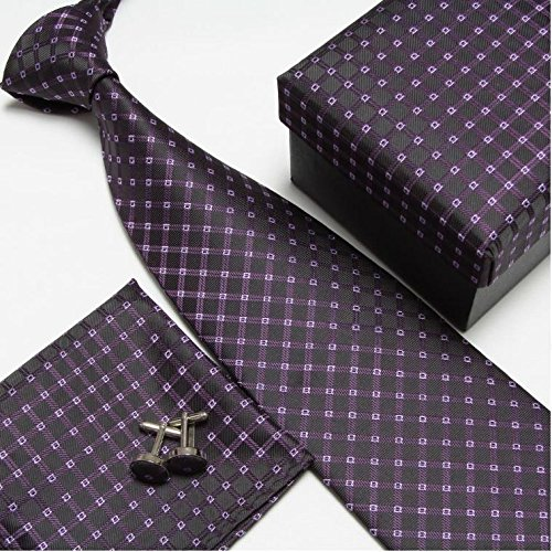 Neck Tie Set Neckties Cufflinks Hanky High Quality Ties Sets Tower Cuff Links Pocket Square Snot-rag Handkerchiefs (Brooks Brothers Pocket Square compare prices)