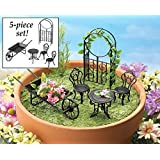 Collections Etc Collectible Fairy Garden Furniture Set - 5 Pc
