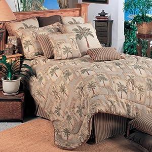 Palm Grove 3 Piece Comforter Set Size: Queen