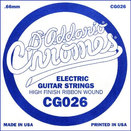 D'Addario Cg026 Flat Wound Electric Guitar Single String, .026