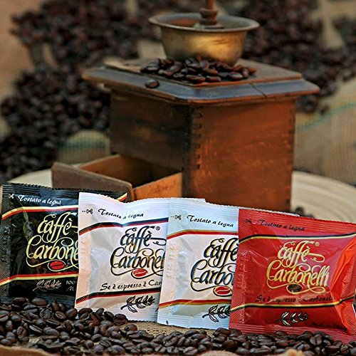 Find ESE Coffee Pods Mixed Variety Pack - 4 Flavours - 100% Arabica, Classic, Ristretto, Decaffeinated (100 Units) by Carbonelli