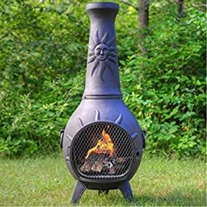 Natural gas chiminea blue rooster alch029gk - Chimenea gas natural ...
