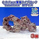 """(海水魚)C.P.Farm 養殖ライブロック""""BaseRock"""" Mサイズ 3個(形状お任せ) 本州・四国限定[生体]"""
