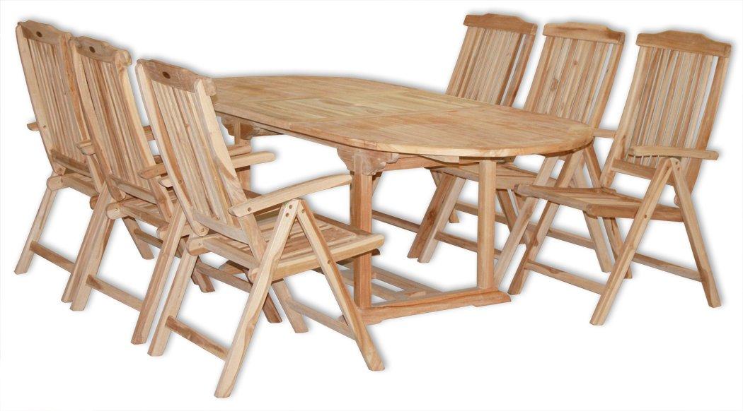 KMH®, Gartensitzgruppe für 6 Personen (Echt Teak) (#102080) günstig