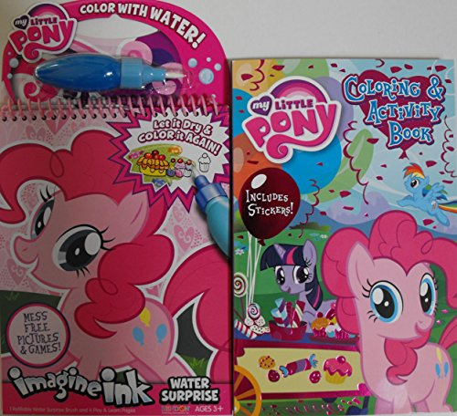 My Little Pony 2 Piece (Bundle) One Imagine Ink Water Surprise & One 160 Page Digest Coloring And Activity Book With Stickers. Sealed.