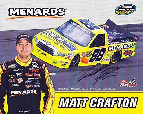 autographed-2013-matt-crafton-88-menards-racing-camping-world-truck-series-signed-picture-8x10-nasca