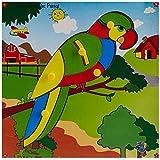 Skillofun Skillofun Theme Puzzle Standard Parrot Knobs Multi Color