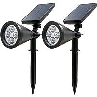 2-Pk. Rusee Solar Spotlight Outdoor Lighting