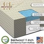 """Brentwood 11"""" Gel Infused HD Memory F..."""