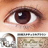 エバーカラーワンデー ナチュラル 1日交換 1箱20枚入 DIA14.5mm ナチュラル ブラウン 【PWR】±0.00