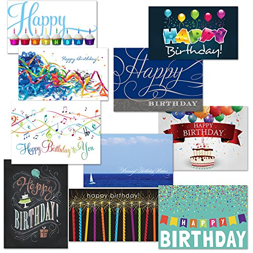 Festive Birthday Card Assortment Pack